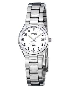 Lotus Armbanduhr 15192/2 Edelstahlarmband Datum