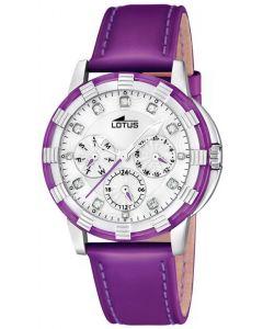 Lotus Glee Damenuhr 15746/6 lila Multifunktion Uhr Lederarmband