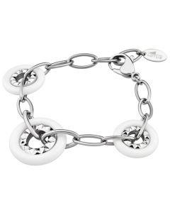 Damen Armband Lotus Style LS1301/2/1 weiss Edelstahl