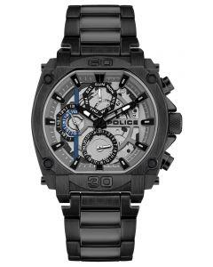 Police Herrenuhr Armbanduhr Edelstahl schwarz  Multifunktionsuhr PL15472JSB.13M