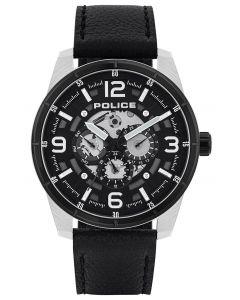 Police Herren Armbanduhr Lederarmband schwarz PL15663JSTB.02