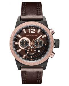 Police Armbanduhr Herrenuhr Lederarmband braun PL15529JSBBN.12