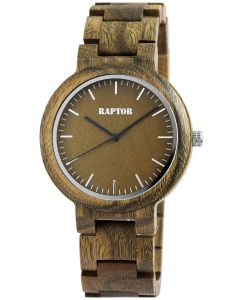 Raptor Herren Uhr Holz Armbanduhr braun RA20242-004