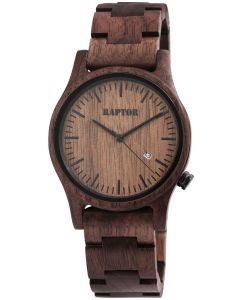 Raptor Herren Uhr Holz Armbanduhr dunkelbraun RA20243-003