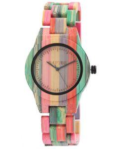 Raptor Damen Uhr Bambus Armbanduhr RA10188-001