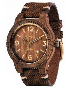 Wewood Holzuhr Lederarmband braun Herren Armbanduhr WW08007