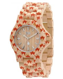 Wewood Holzuhr Uhr Armbanduhr Date Heart Beige WW34001