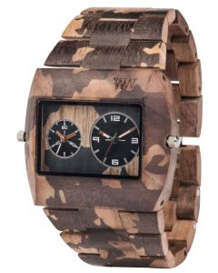 Wewood Holzuhr Armbanduhr WW40004 Jupiter Nature Camo Nut