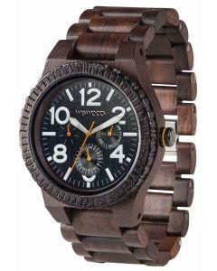 Wewood Holzuhr Armbanduhr Unisex Kardo Choco White WW26005