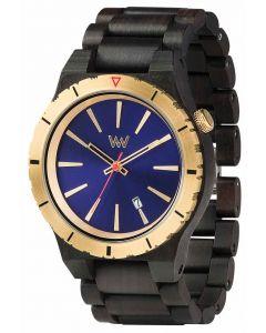 Wewood Holzuhr Armbanduhr Herrenuhr Assunt MB Blue Gold WW29007