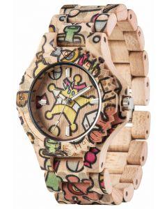 Wewood Holzuhr Damen Armbanduhr Date Woop Sweetstar WW52001
